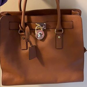 Michael Kors hard large purse and or lap top bag